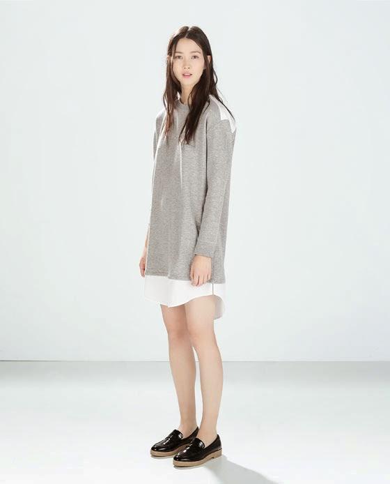 Zara Combination Velour Dress
