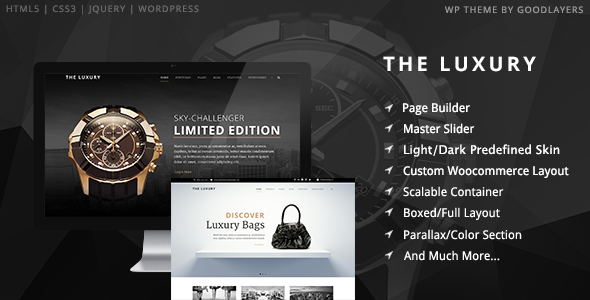 Download ThemeForest The Luxury v1.01 – Dark/Light Responsive WordPress Theme for free.