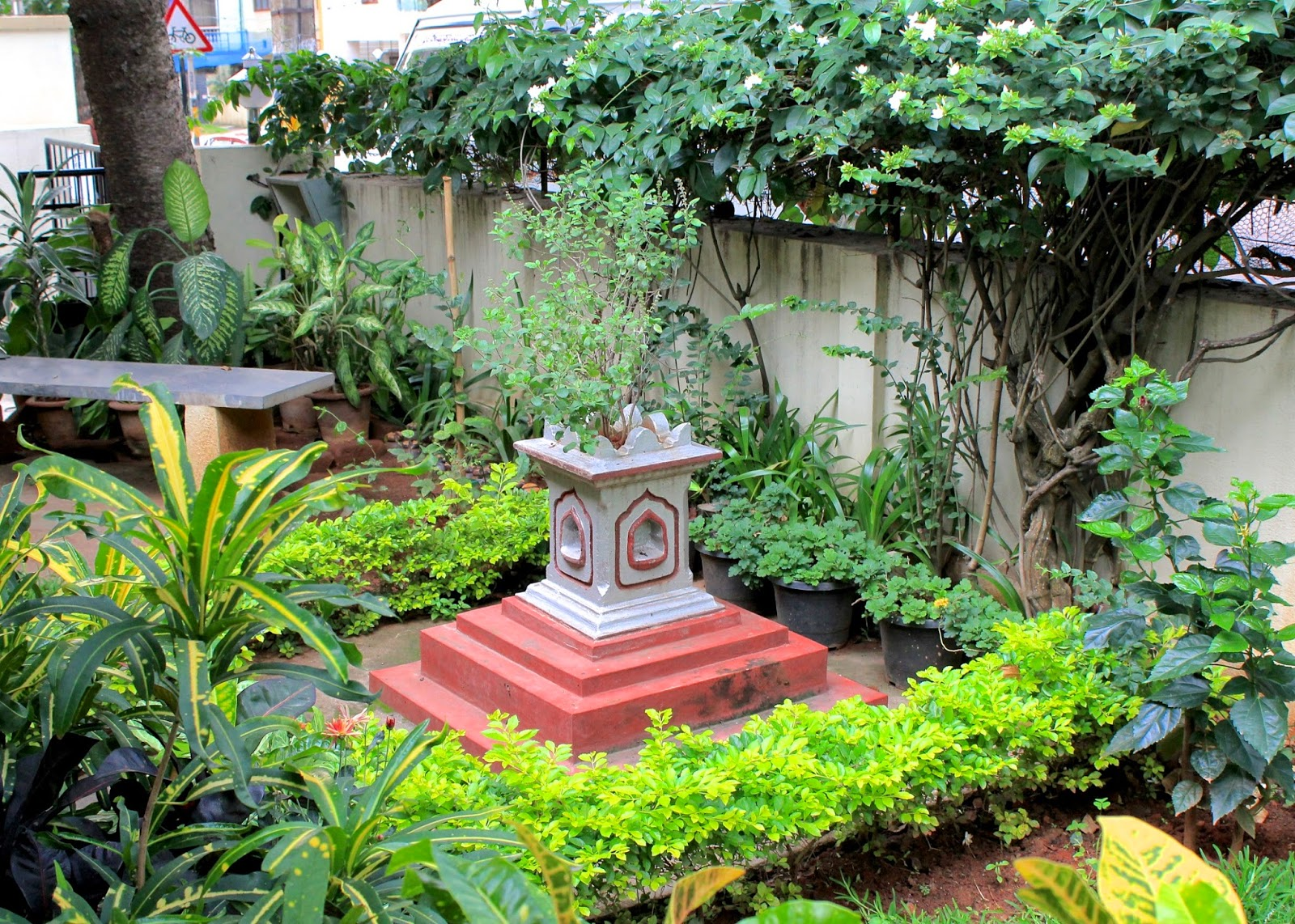 Red house garden an indian garden for Indian home garden design