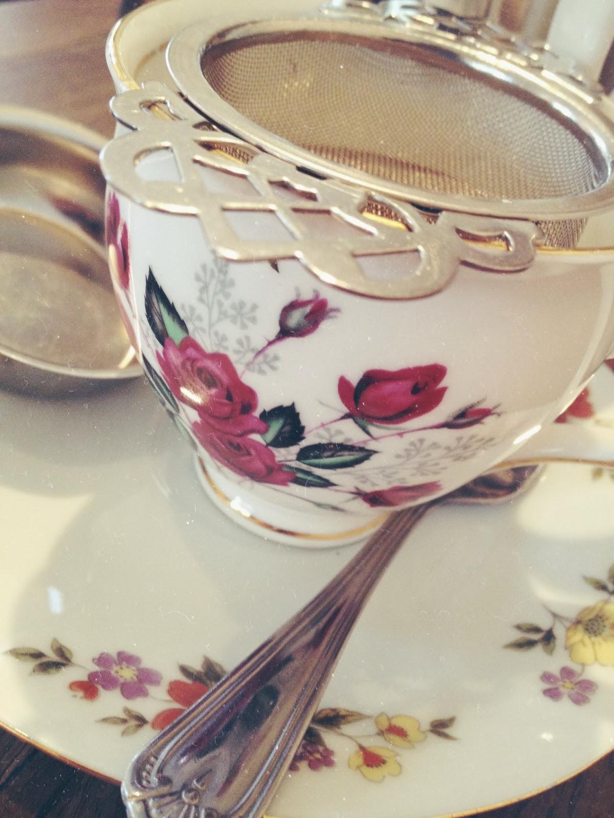 cup of tea image, cardiff, vintage