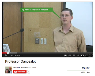 Screenshot of the Professor Dance-a-lot video