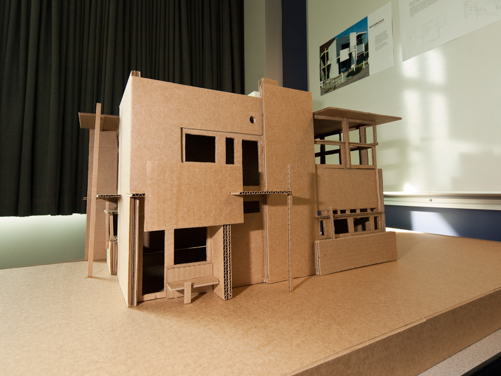 Rietveld schroder house scale model emanuel landau House model