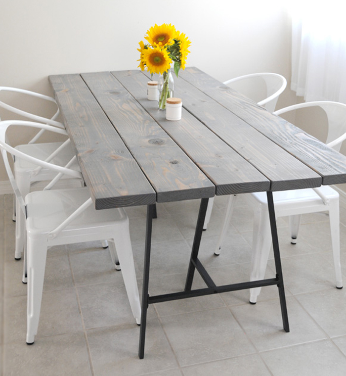 6 diy tables to try luxury furniture - Ikea rustic dining table ...