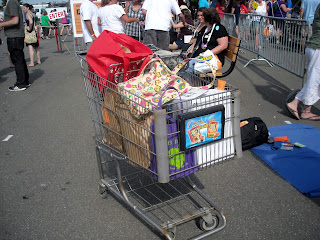 NY Finger Lakes Wine Fest Wine Cart
