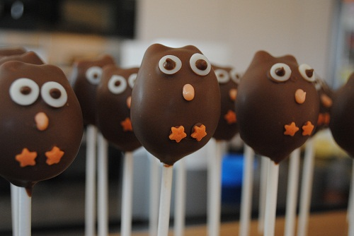 owl cake pop gruffalo theme
