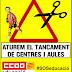 Els centres que es mobilitzen en defensa de l'escola, en contra del tancament de centres