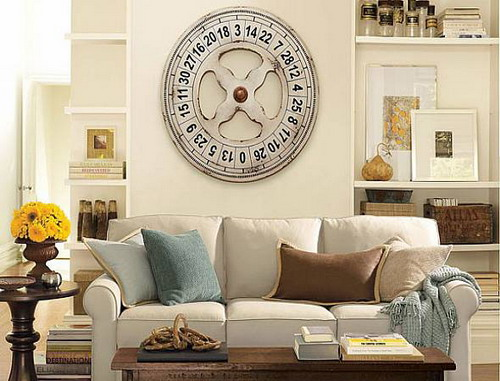 Add touch of beauty and warmth to your home with wall - Wall picture clock decoration ...