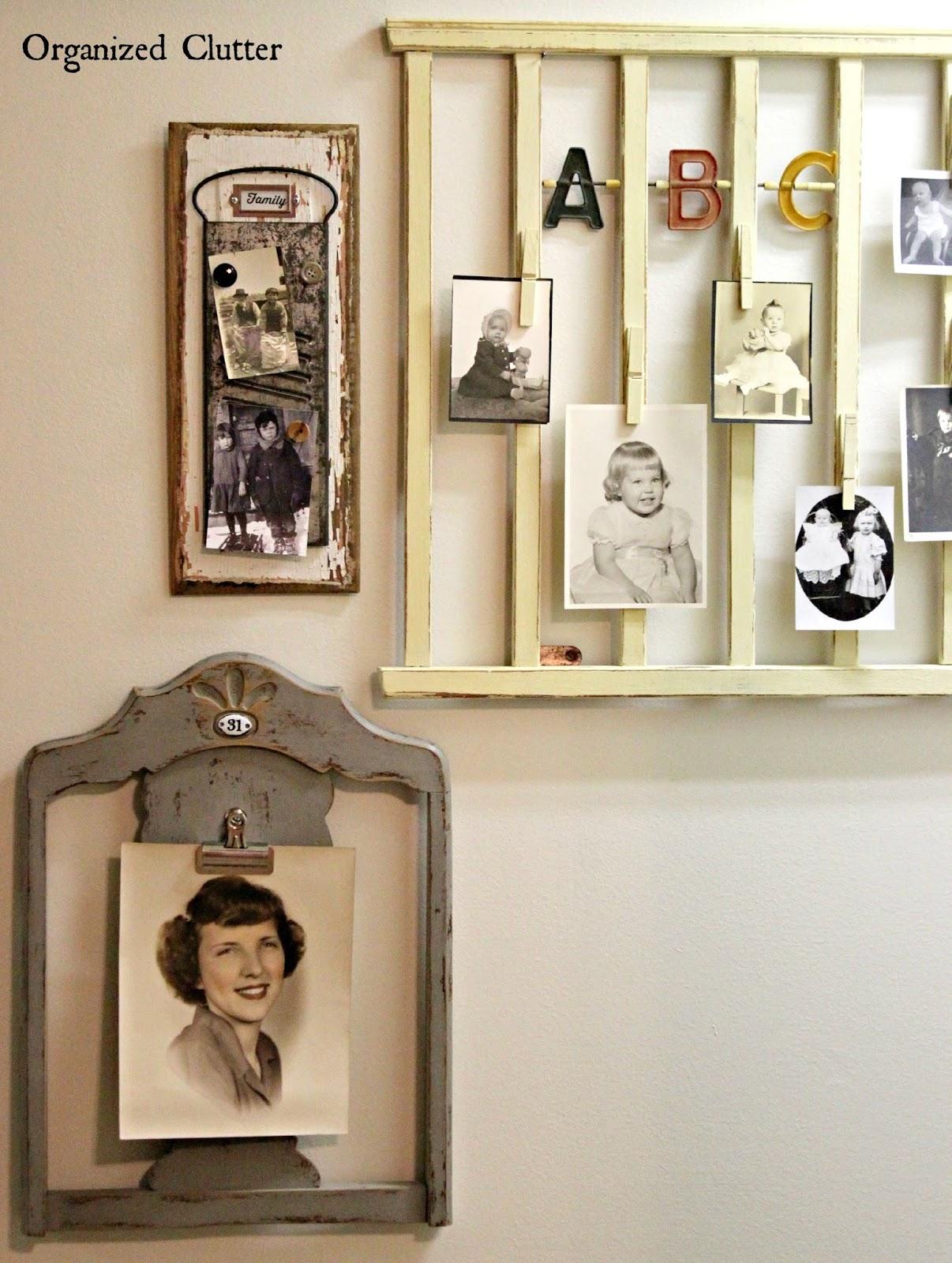 Re-Purposed Photo Gallery (Work In Progress) www.organizedclutter.net