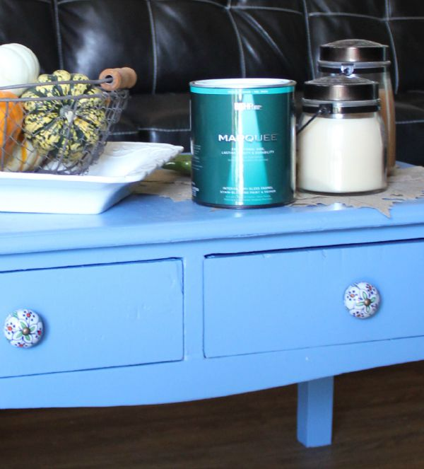 My New Coffee Table Behr Paint Cozy Little House