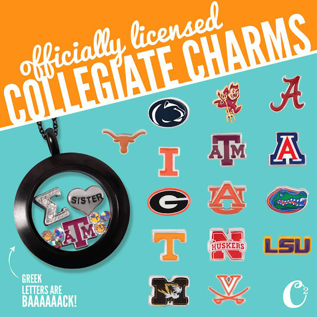 Origami Owl Collegiate Charms available at StoriedCharms.origamiowl.com