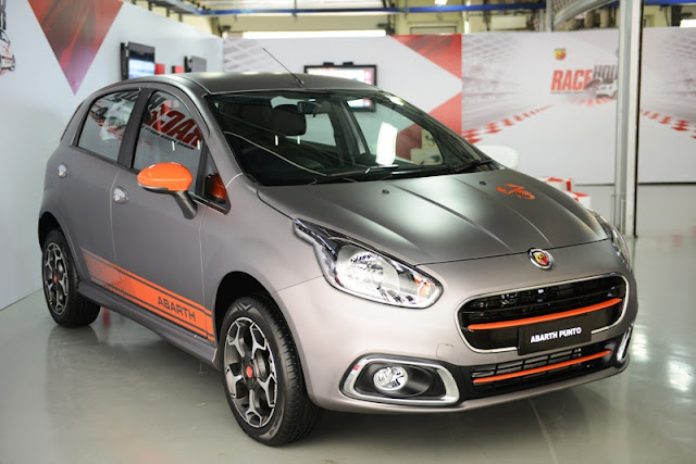 Abarth Punto FCA India Silver Orange