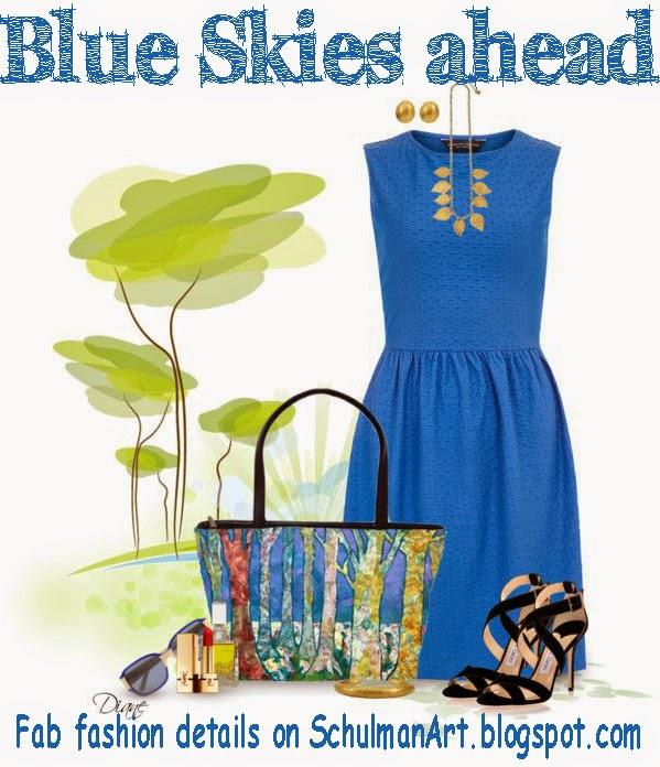 dazzling blue handbag | spring 2014 fashion trend