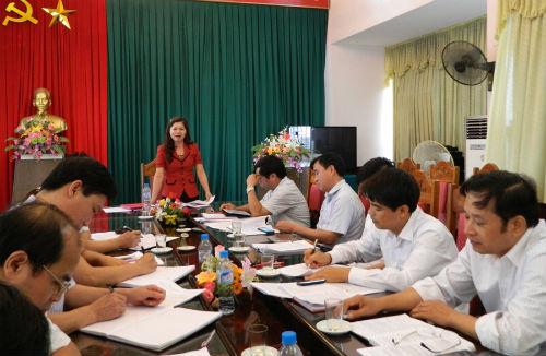 Ban dân vận Tỉnh ủy kiểm tra tại Hiệp Hòa