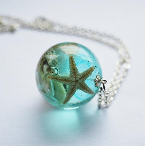 Beautiful Tiny Star Fish Sea Necklace