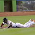 Dee Gordon stumbles, falls after laying down perfect bunt (GIF)