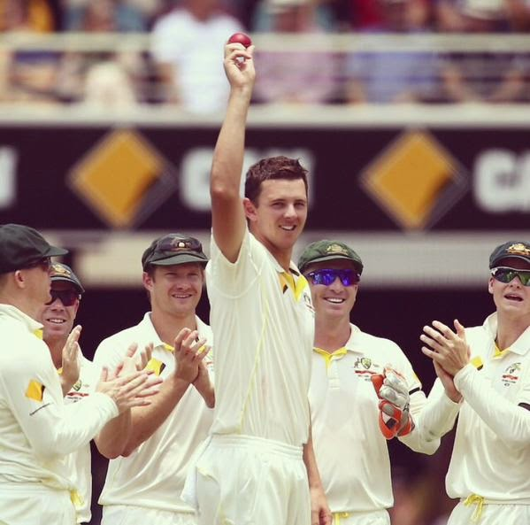 Josh-HAZLEWOOD-5-Wickets-Test-Debut-Australia-vs-India-2nd-Test-Brisbane-2014