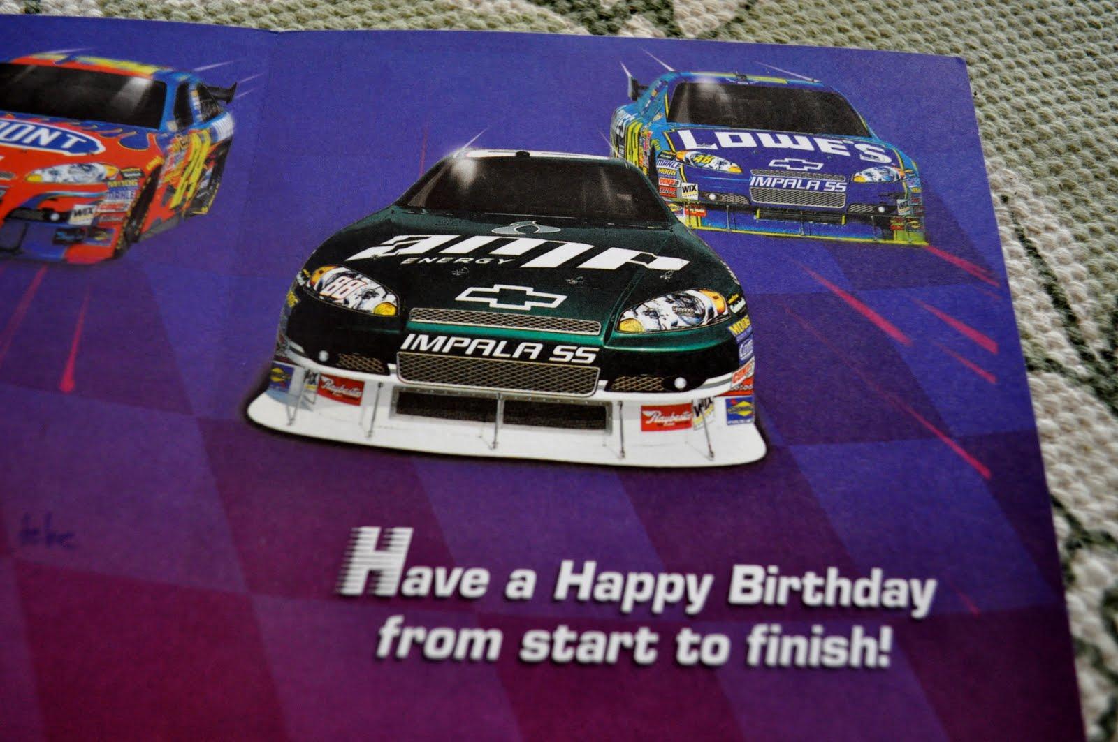Nascar Race Happy Birthday Car Pictures Car Canyon – Nascar Birthday Cards