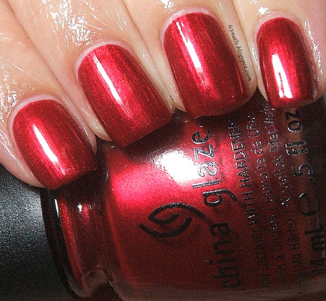 china glaze cranberry splash swatch and review notes