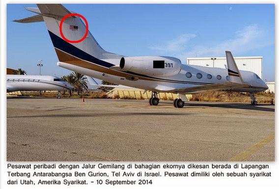GEMPAR 5 GAMBAR Jet Peribadi Dengan Jalur Gemilang Di Israel Sebenarnya Milik Siapa