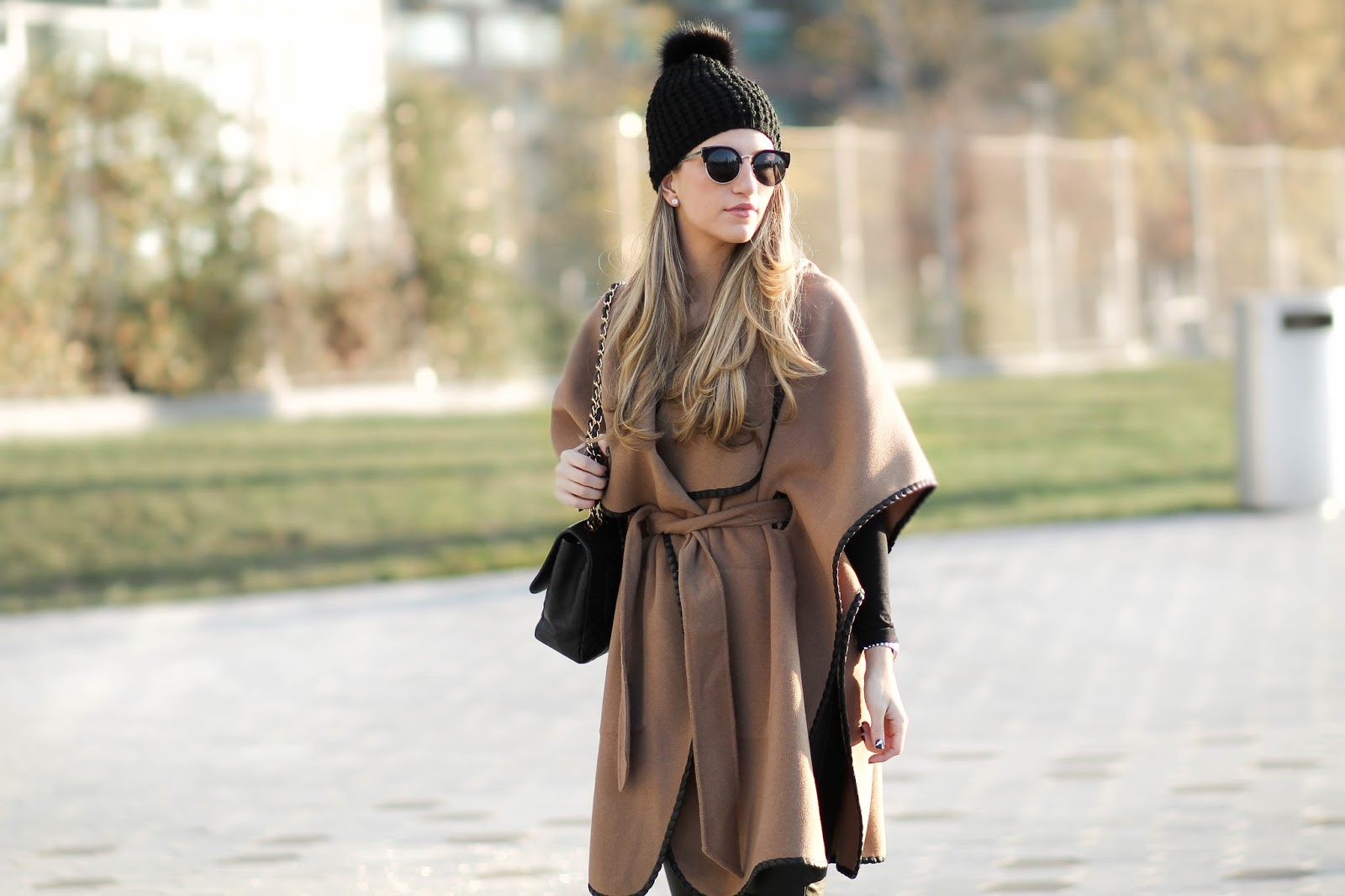 camel cape coat, dressed for dreams
