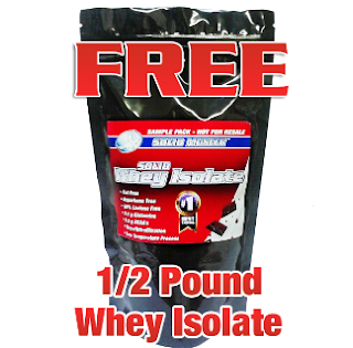 Free 1/2 Lb Whey Isolate Powder