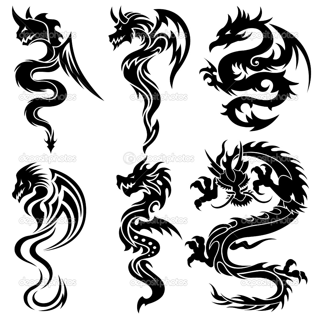 Tattoo in gallery tribal chinese dragon tattoos for Grafik design
