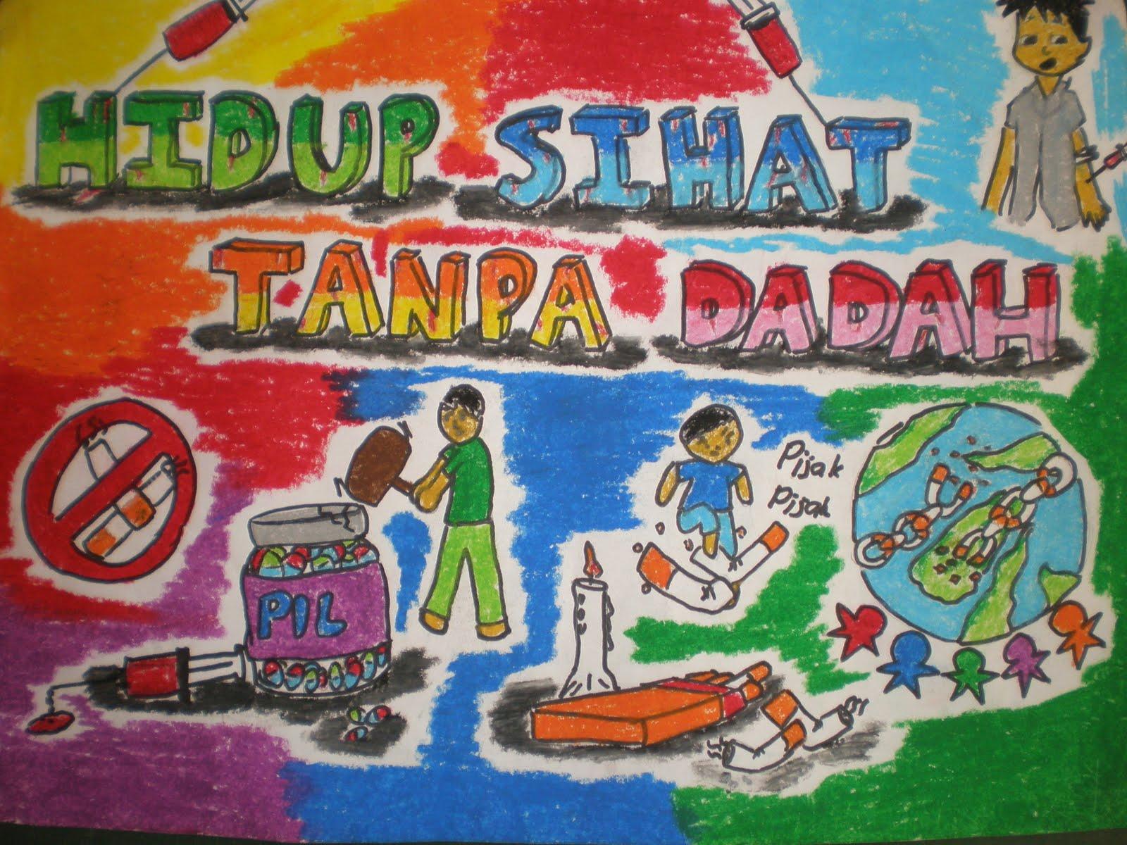 Poster dadah musuh negara images for Mural sekolah rendah