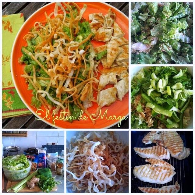"Chinese chicken salad (ensalada china de pollo ""californiana"")"