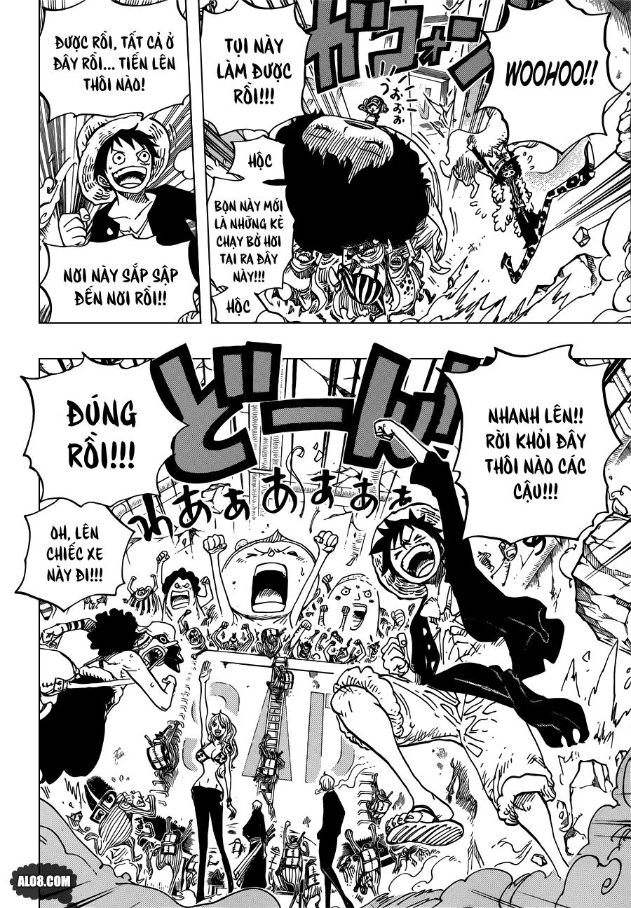One Piece Chapter 693: Hãy hi sinh vì ta 014