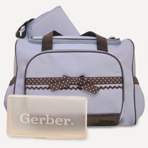 Gerber Duffel Style Diaper Tote Bag, Blue