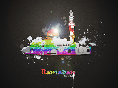 Colorful and abstract ramadan kareem wallpaper