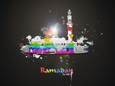 Colorful and abstract ramadan kareem wallpaper