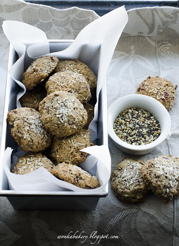 fast easy and healthy nut & seed cookies - biscotti veloci ai semi e farina di avena senza burro senza latte!