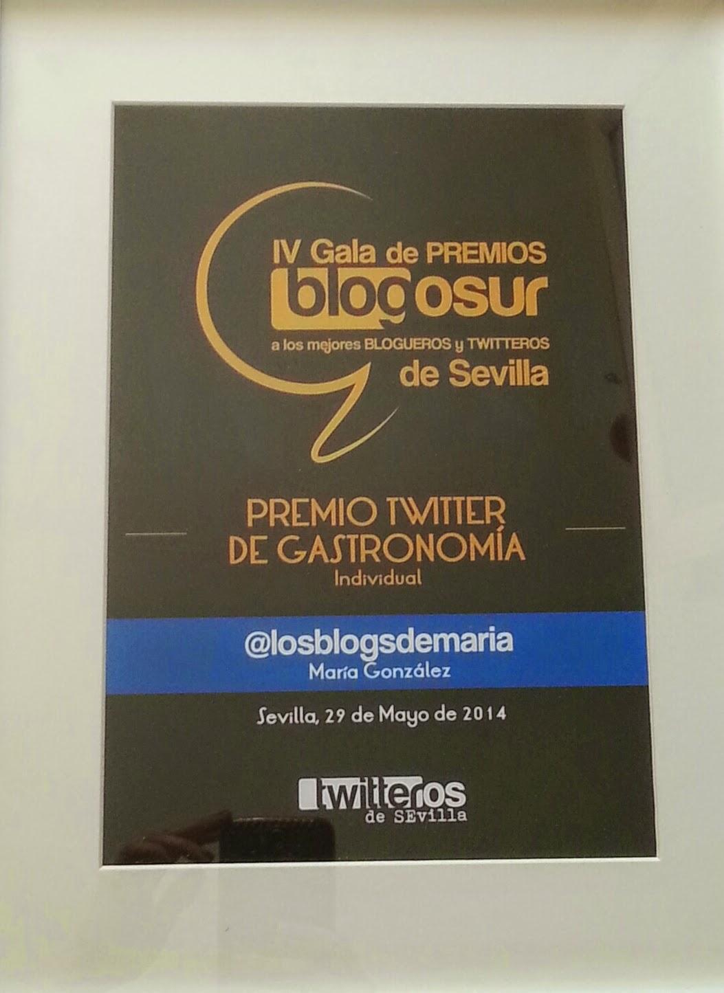 Premio Twitter de Gastronomía Individual