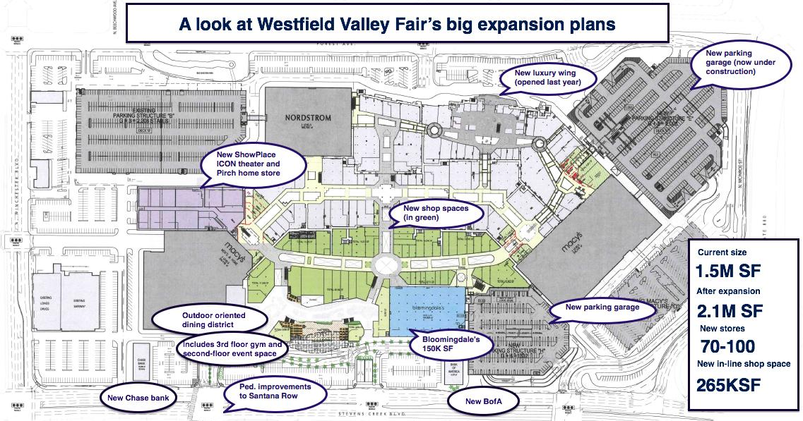 Located in the heart of Silicon Valley, Westfield Valley Fair showcases a unique lineup of international luxury retailers and iconic global brands, and is among the most highly productive shopping centers in the entire United States.8/10(53).