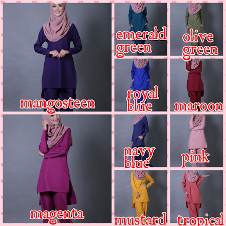 NEW ARRIVAL! Pelbagai Koleksi Blouse Labuh Yang Menawan PAsti Membuatkan Anda  Nampak Slim