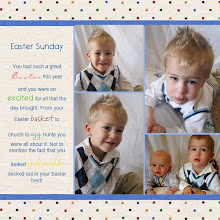 Carter's latest scrapbook page