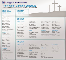 Philippine National Bank (PNB) Bank Schedule