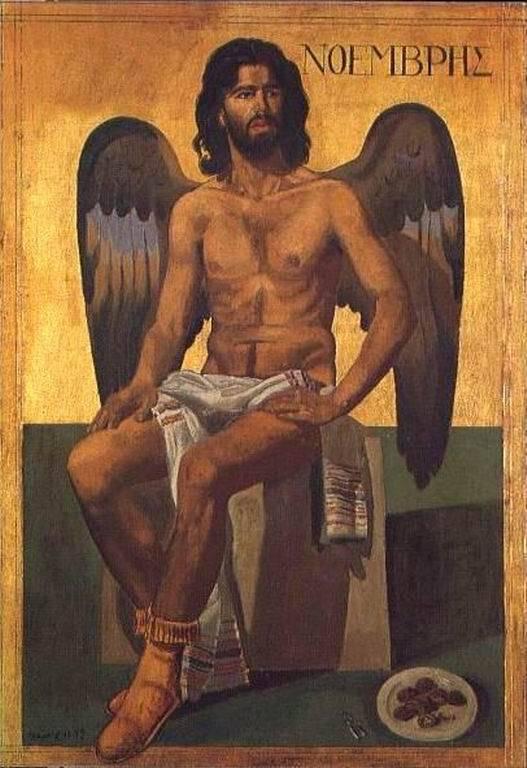 Ο Νοέμβριος ονομάστηκε Nonus που σημαίνει «ένατος» από τον λατινικό αριθμό nove, το ελληνικό εννιά