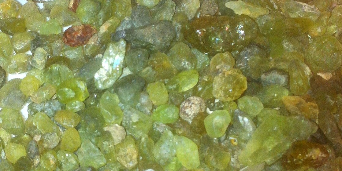 Polished Olivine Basalt Co : Gemhunter s guide to finding peridot gemstones geology of