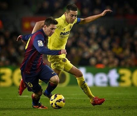 Liga Spanyol : Barcelona 3-2 Villarreal