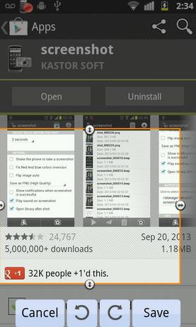 Screenshot - Aplikasi Screenshot Android