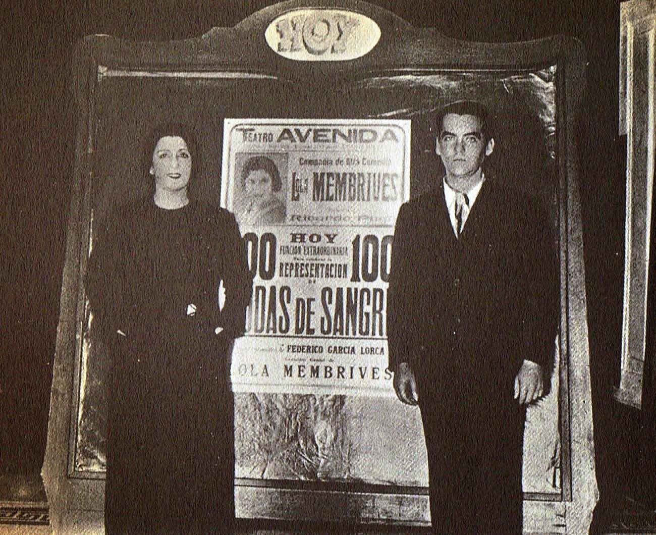 Lorca y la actriz Lola Membrives