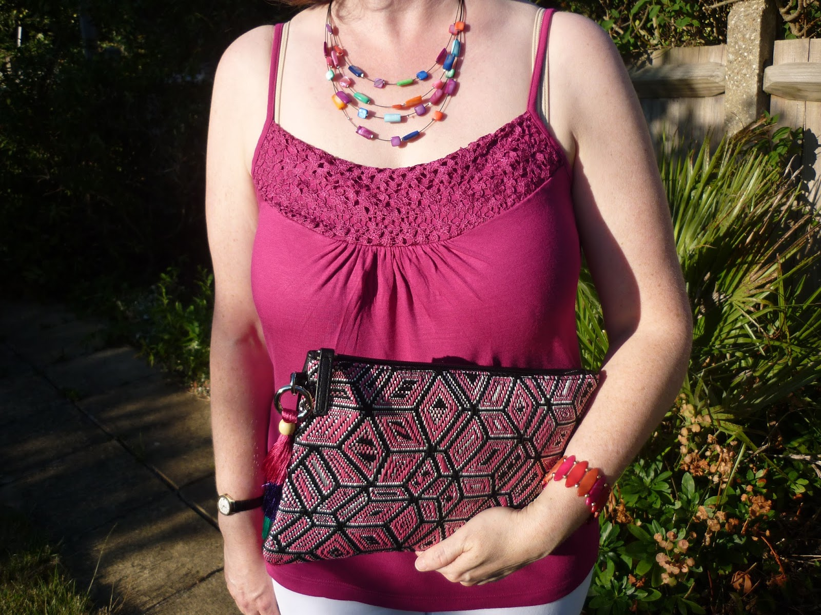 Aztec Clutch Bag & Necklace | Petite Silver Vixen