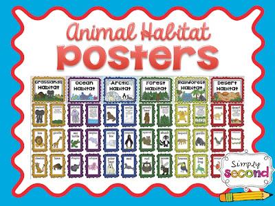 Teaching With Mrs. Hynst: Animal Habitat Unit + Freebie