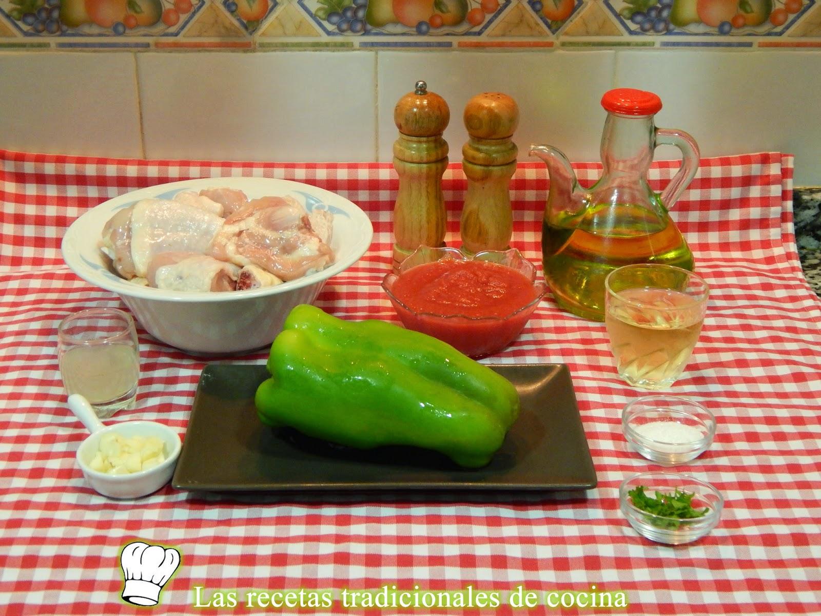 Receta de pollo a la Bilbaína
