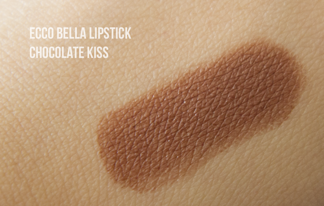 Photo of Ecco Bella Flowercolor Lipstick in Chocolate Kiss swatch.