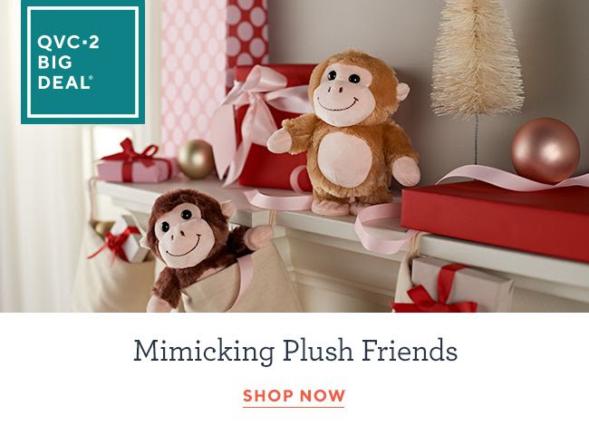 Set of 2 Mimicking Plush Friends with 3 Voices