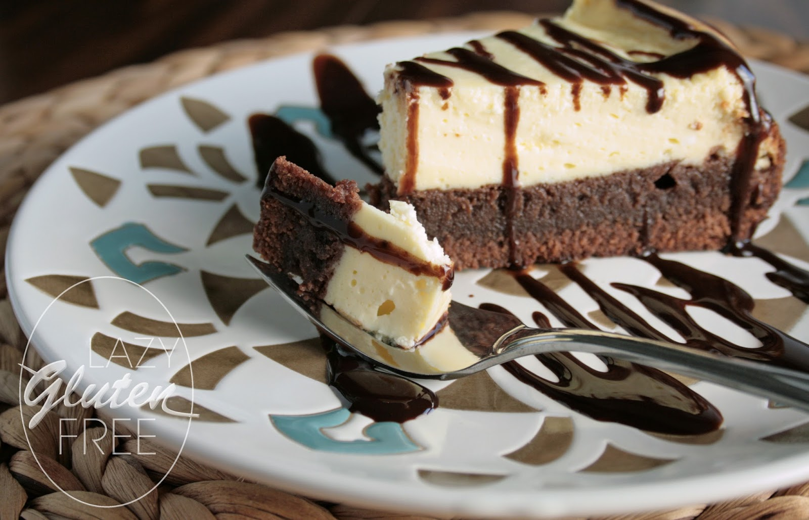 Lazy Gluten Free: Gluten Free Brownie Cheesecake