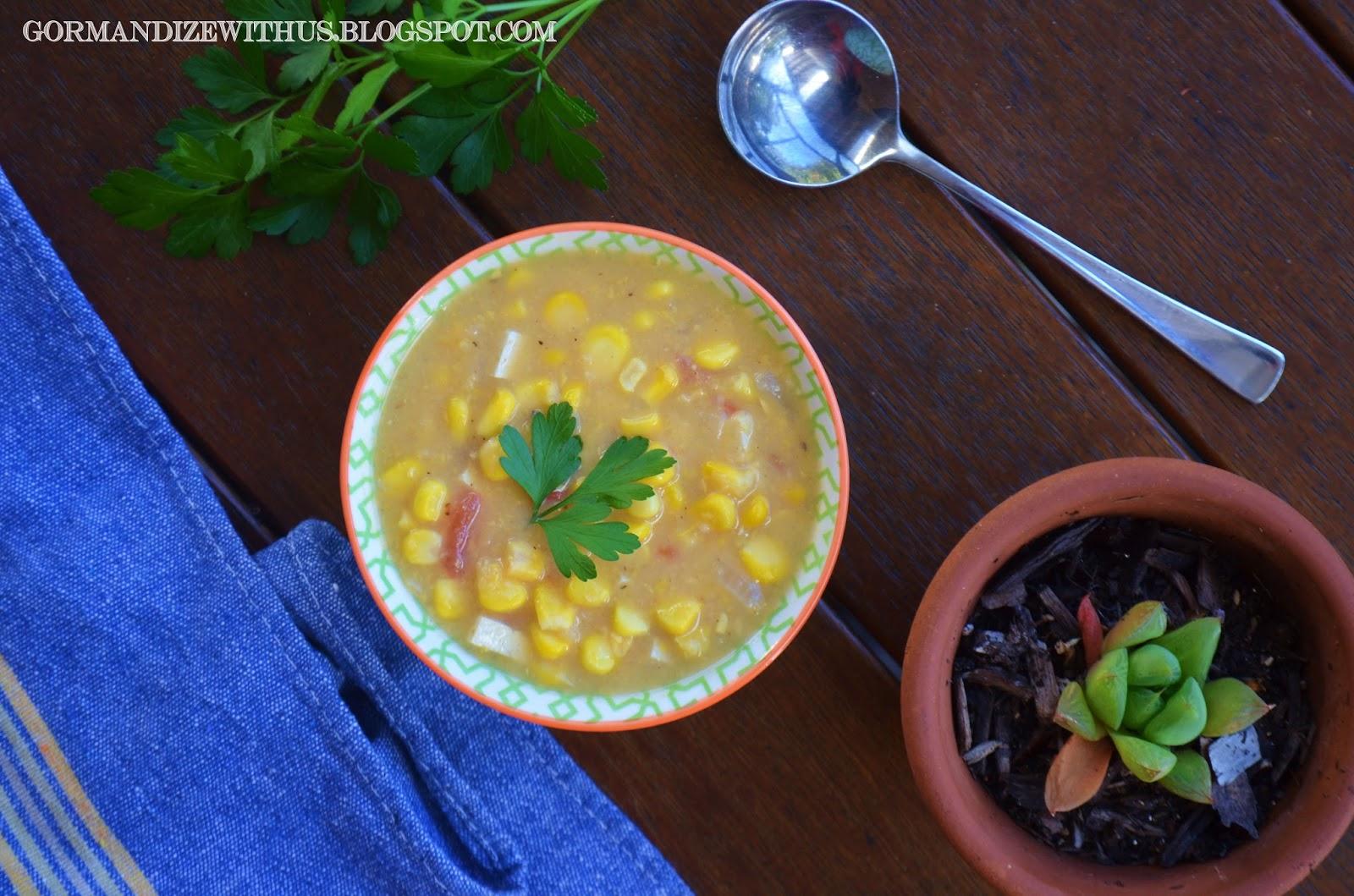 GormandizeCorn  Tofu Soup